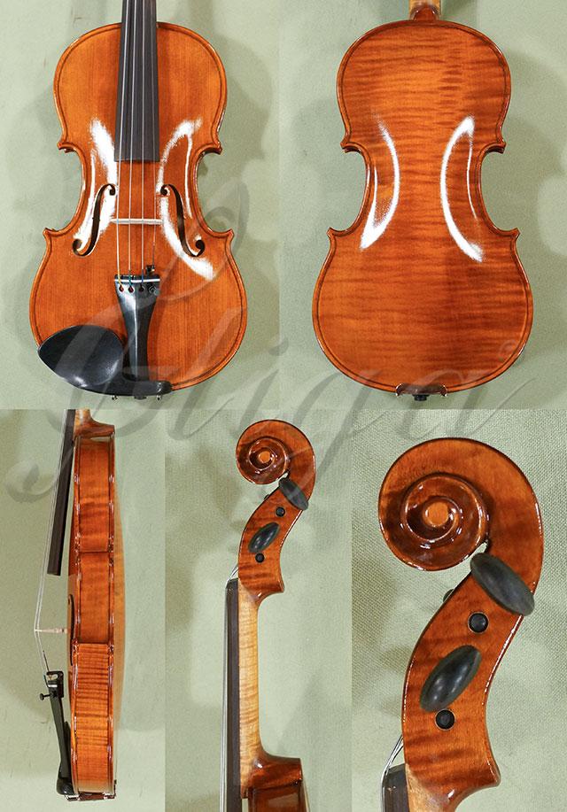 Shiny Antiqued 1/2 WORKSHOP 'GEMS 1' One Piece Back Violin