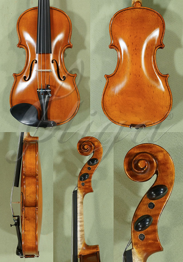 Antiqued 1/8 WORKSHOP 'GEMS 1' Bird's Eye Maple One Piece Back Violin