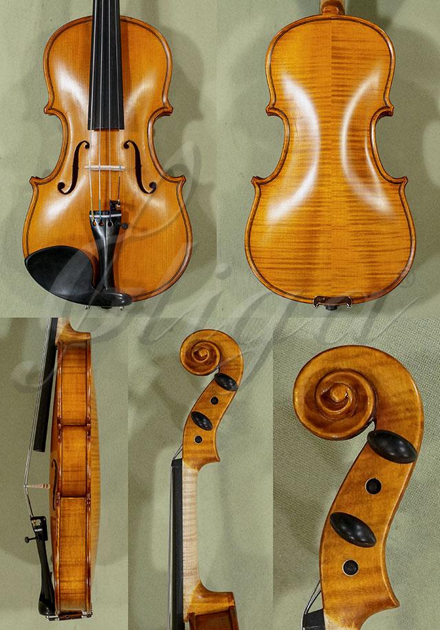 Antiqued 1/8 WORKSHOP 'GEMS 1' Bird's Eye Maple One Piece Back Violin