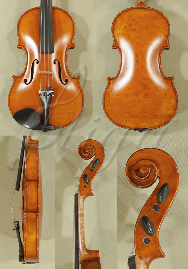 Antiqued 4/4 WORKSHOP 'GEMS 1' Bird's Eye Maple One Piece Back Violin 'Guarneri'