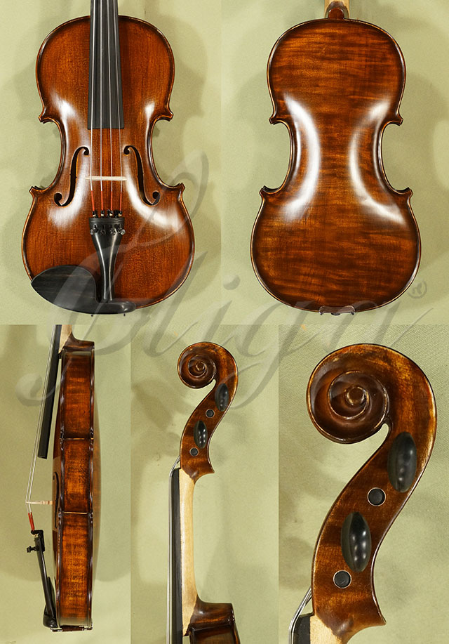 """Stained Antiqued 14"""" Student 'GEMS 2' One Piece Back Viola"""