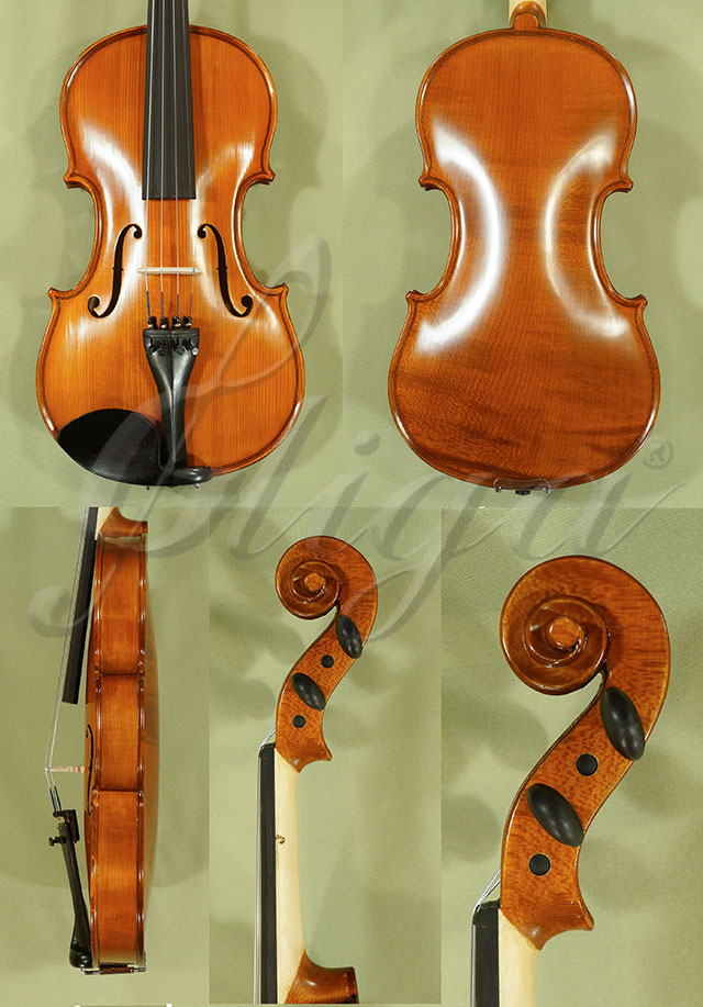 Antiqued 4/4 School 'GENIAL 1-Oil' One Piece Back Violin