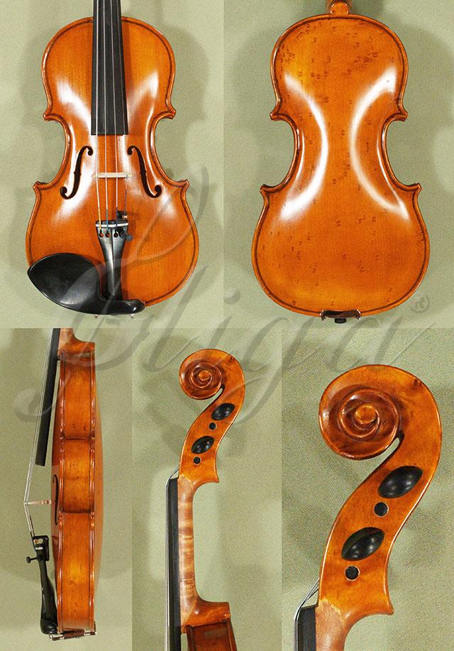 Antiqued 1/8 WORKSHOP 'GEMS 1' Bird's Eye Maple Violin