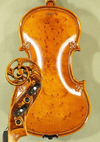 4/4 MAESTRO VASILE GLIGA Scroll Densely Bird's Eye Maple One Piece Back Violin 'Guarneri' on sale