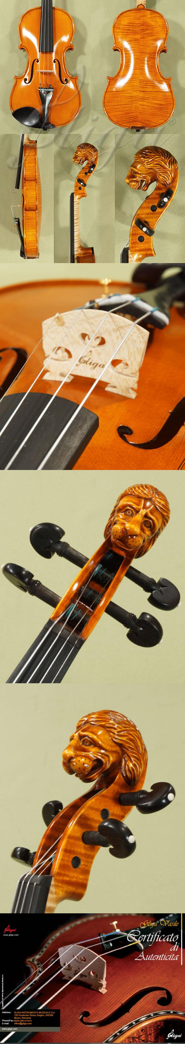 4/4 MAESTRO VASILE GLIGA 'Lion' Scroll Violin