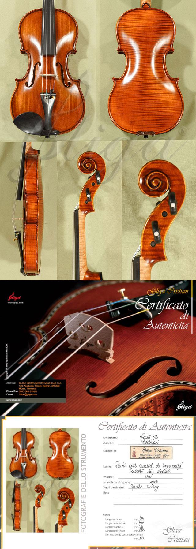 Antiqued 1/2 MAESTRO GLIGA One Piece Back Violin
