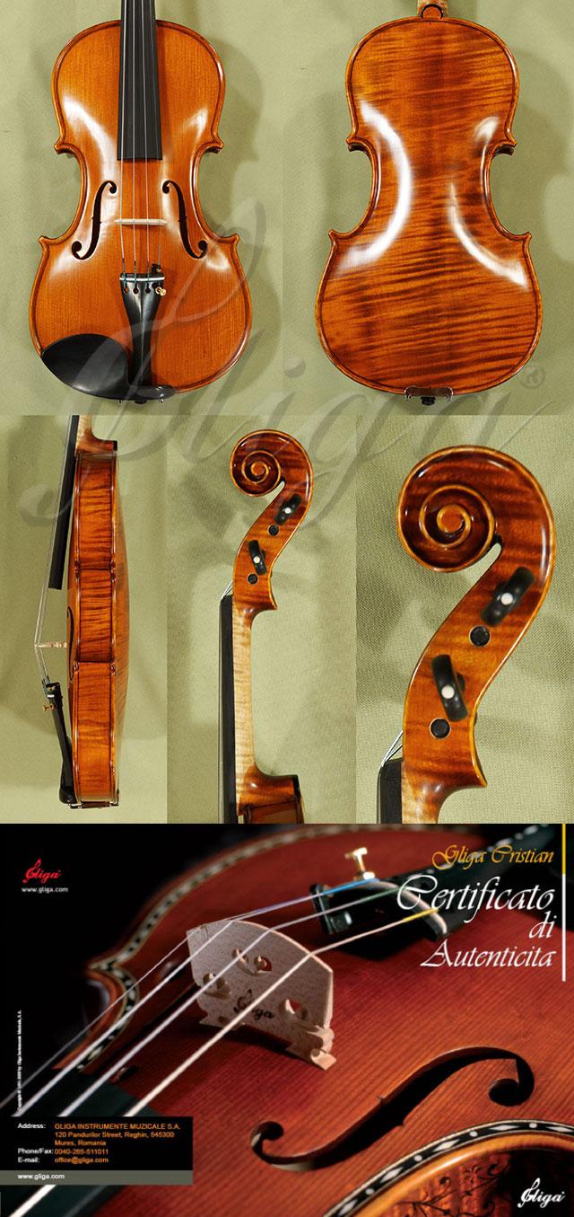 Antiqued 4/4 MAESTRO GLIGA One Piece Back Violin