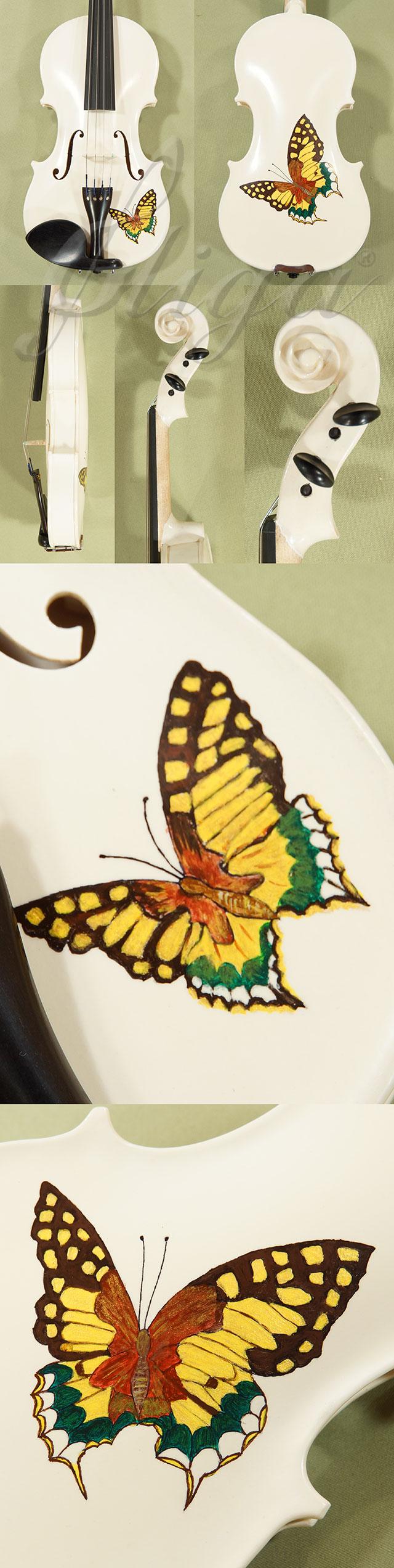 1/4 Student 'GEMS 2' White Butterflies Violin