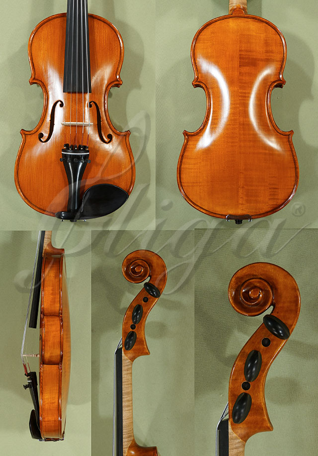 Antiqued 4/4 Student 'GEMS 2' Left Handed with 5 Strings Violin