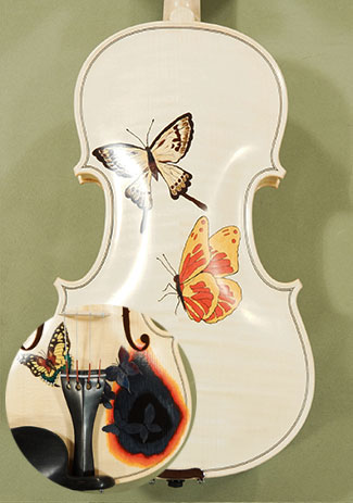 Wood Color 4/4 WORKSHOP 'GEMS 1' Butterflies Violin on sale
