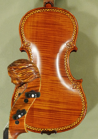 4/4 MAESTRO VASILE GLIGA 'Girl' Scroll One Piece Back Violin