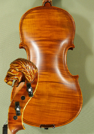 4/4 MAESTRO VASILE GLIGA Inlaid Double Purfling 'Lion' Scroll One Piece Back Violin on sale