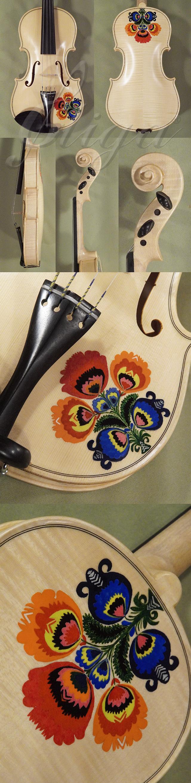 Wood Color 4/4 WORKSHOP 'GEMS 1' Traditional flowers Violin