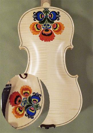 Wood Color 4/4 WORKSHOP 'GEMS 1' Traditional flowers Violin on sale