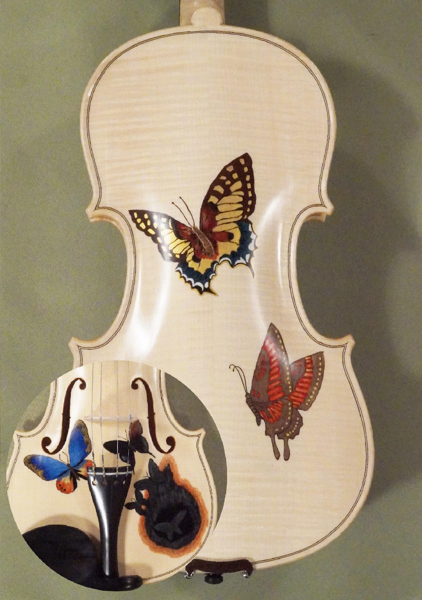 Wood Color 4/4 WORKSHOP 'GEMS 1' Butterflies Violin on sale