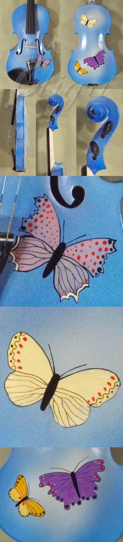 3/4 Student 'GEMS 2' Blue Butterflies Violin