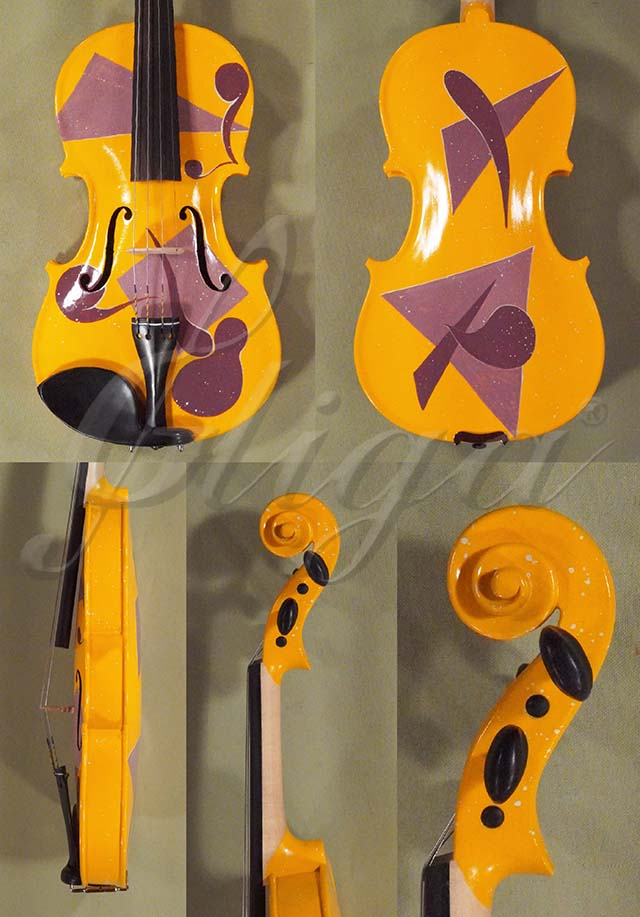 3/4 Student 'GEMS 2' Orange Abstract Violin
