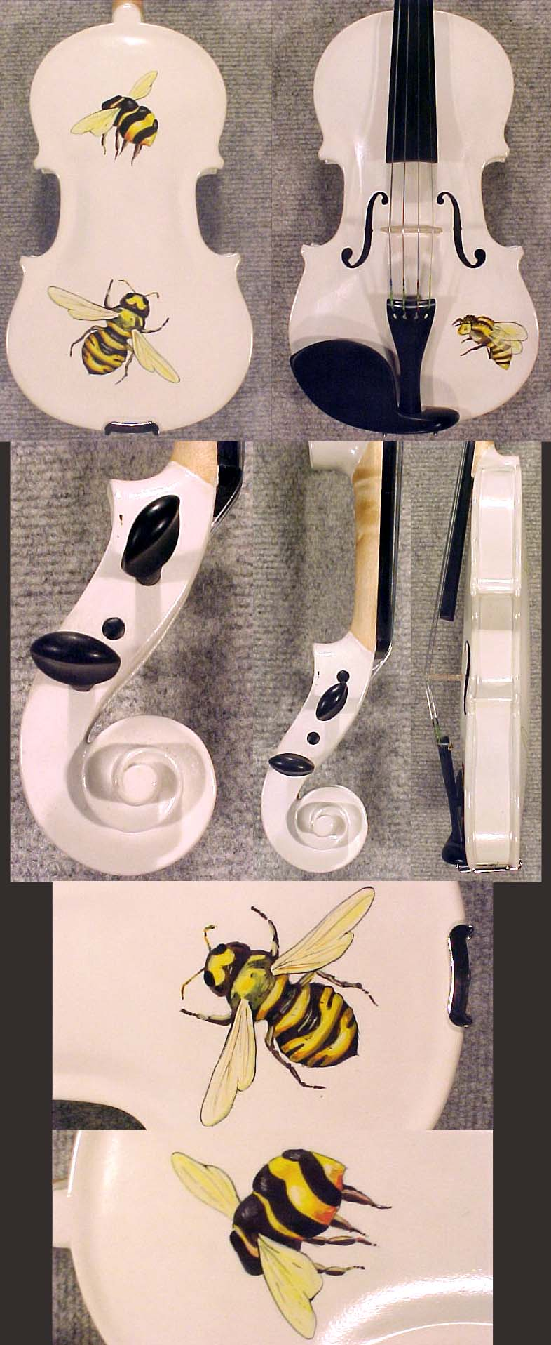 Artistic 1/8 ADVANCED Student 'GEMS 2' Bee White Violin