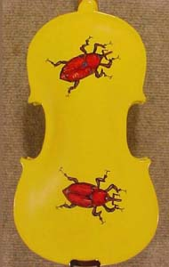 1/4 ADVANCED Student 'GEMS 2' Yellow Ladybug Violin  on sale