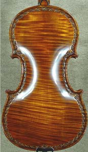 Special 4/4 MAESTRO VASILE GLIGA 'Relief Wood Carving' One Piece Back Violin on sale