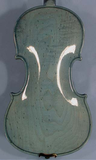 4/4 WORKSHOP 'GEMS 1' Bird's Eye Maple One Piece Back Blue Violin on sale
