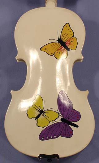 Artistic 1/2 ADVANCED Student 'GEMS 2' Butterflies White Violin on sale