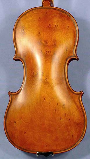 Special Antiqued 1/4 WORKSHOP 'GEMS 1' Bird's Eye One Piece Back Violin on sale