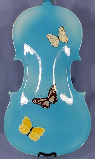 3/4 ADVANCED Student 'GEMS 2' Blue Butterflies Violin on sale