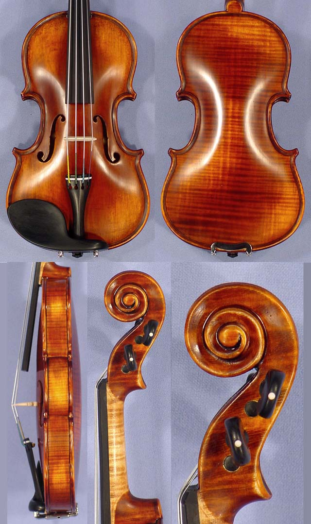 Antiqued 1/32 PROFESSIONAL 'GAMA Super' One Piece Back Violin