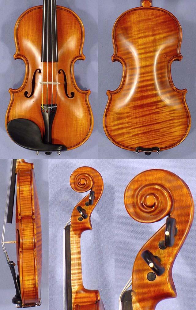 Antiqued 1/32 PROFESSIONAL 'GAMA Super' One Piece Back Violin