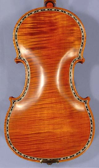 4/4 MAESTRO VASILE GLIGA Rare Inlaid With Bone and Ebony Purfling Inlay Work One Piece Back Viol on sale