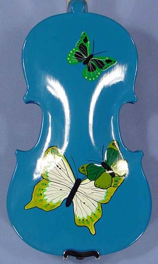 1/16 ADVANCED Student 'GEMS 2' Blue Butterflies Violin on sale