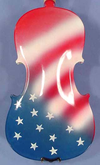 3/4 ADVANCED Student 'GEMS 2' White US Flag Violin on sale