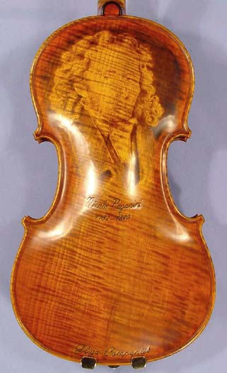 4/4 MAESTRO VASILE GLIGA 'PAGANINI' Pyrogravure One Piece Back Violin on sale