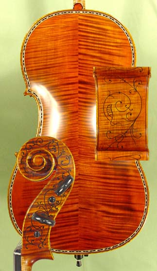 4/4 MAESTRO VASILE GLIGA Rare Inlaid With Bone and Ebony Purfling Inlay Work Cello  on sale