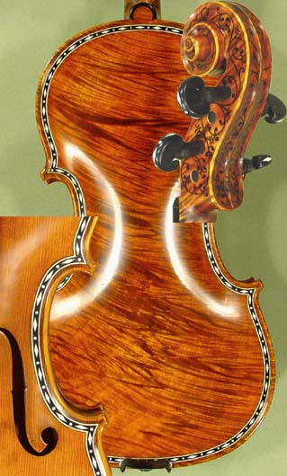 4/4 MAESTRO VASILE GLIGA Rare Inlaid With Bone and Ebony Purfling Inlay Work Wild Maple One Piec on sale