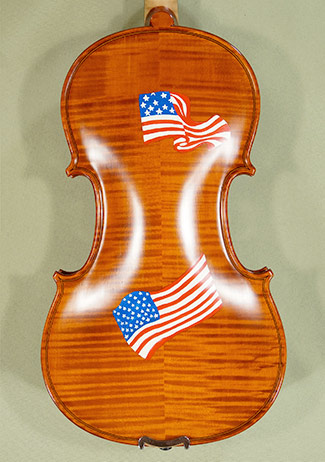 4/4 WORKSHOP \'GEMS 1\' USA Flag Violin on sale
