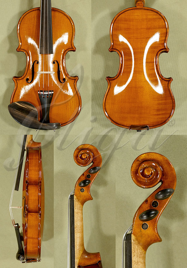 Shiny Antiqued 1/32 Student 'GEMS 2' One Piece Back Violin