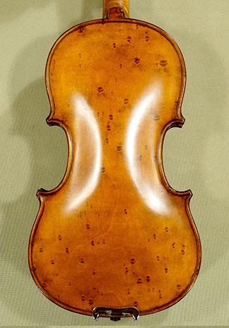 Antiqued 1/4 WORKSHOP \'GEMS 1\' Bird\'s Eye Maple One Piece Back Violin on sale