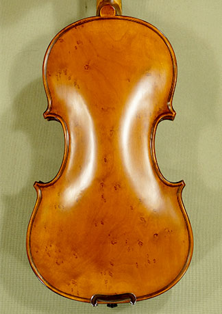 Antiqued 1/4 WORKSHOP \'GEMS 1\' Bird\'s Eye Maple One Piece Back Violin