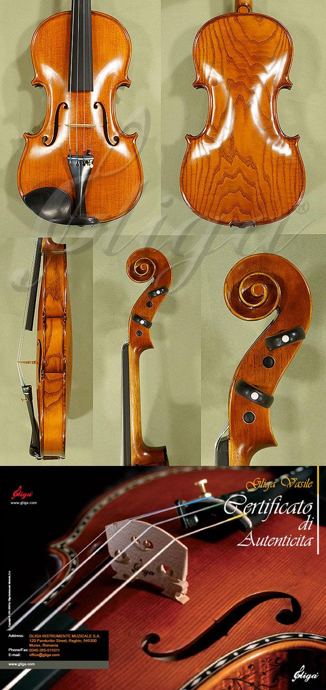 4/4 MAESTRO VASILE GLIGA Ash One Piece Back Violin