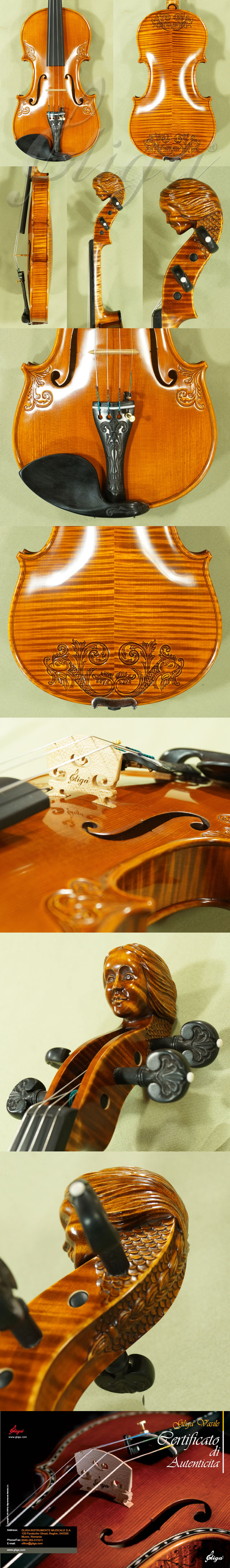 4/4 MAESTRO VASILE GLIGA 'Girl' Scroll Violin