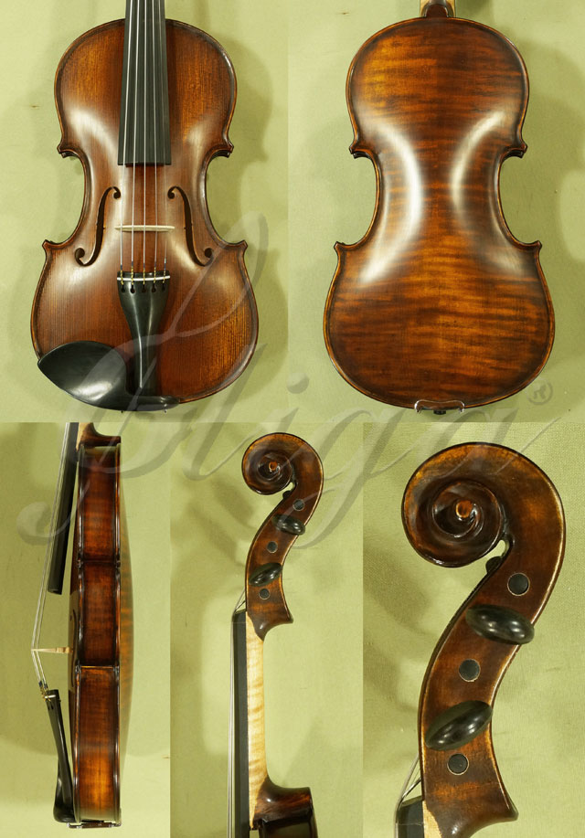 Stained Antiqued 4/4 WORKSHOP 'GEMS 1' Five Strings Violin